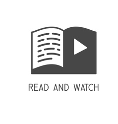 Read and Watch vector image