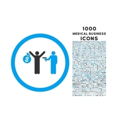 Robbery Rounded Icon with 1000 Bonus Icons vector image vector image