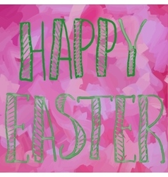 Happy Easter Green on Pink Print vector image vector image