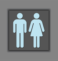 male and female silhouette universal sign icons vector image