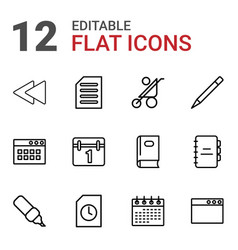 12 page icons vector image