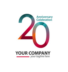 20 year anniversary celebration company template vector image