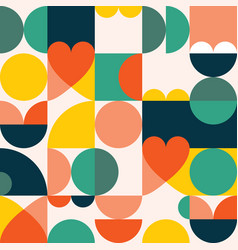 60s and 70s seamless pattern vector