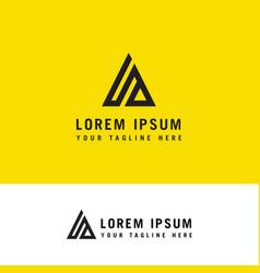 a minimal letter logo concept premium line vector image