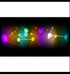 Abstract technological colorful cell background vector