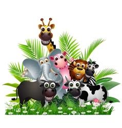 Animal landscape vector image