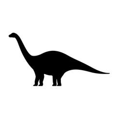 Apatosaurus silhouette vector