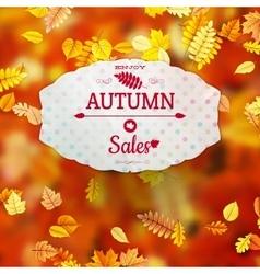Autumn sales banner eps 10 vector
