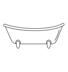baby bathtube icon outline style vector image