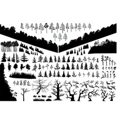 biggest isolated trees set wich can be vector image