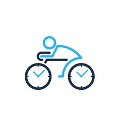 Bike time logo icon design vector