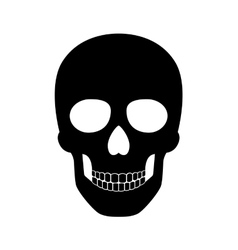 Black skull isolated on white background for vector