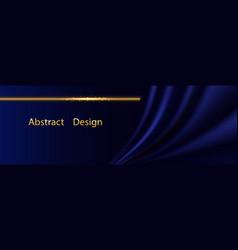 Blue silk luxury background deep satin vector