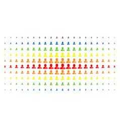 Buddhist monk spectrum halftone effect vector