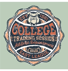 Bulldog college athletic department vector image