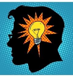 Business concept idea light bulb head vector