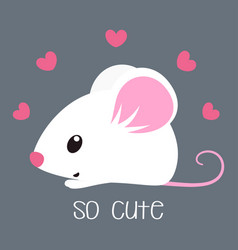 card with cute mouse vector image