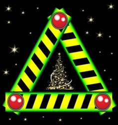 Christmas road sign vector