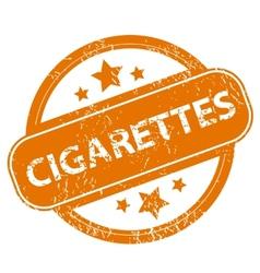 Cigarettes grunge icon vector image
