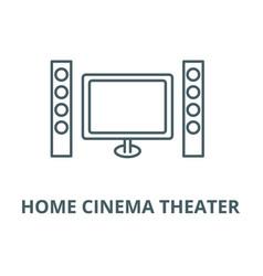 cinema home theater line icon cinema vector image