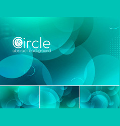 Circle abstract background - turquoise vector