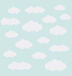 Clouds in the background vector