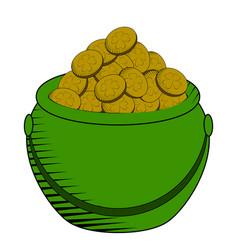 coin pot icon vector image