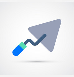 Colored trowel trendy symbol vector