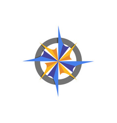 compass abstract icon element vector image