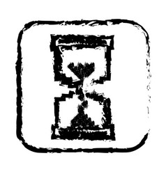 Contour symbol hourglass icon vector