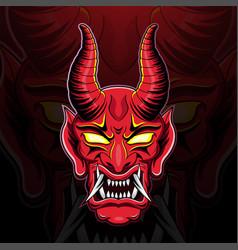 devil head esport mascot logo design vector image