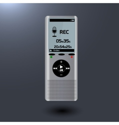 Electronic dictaphone for digital recoder vector image