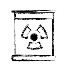 Figure poster with radiation symbol of danger vector