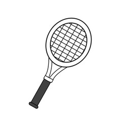 Figure racket to play tennis icon vector