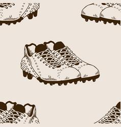 Football equipment seamless pattern engraving vector