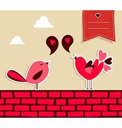 Fresh social media birds love vector image