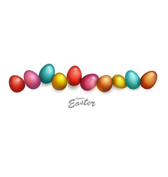 group easter eggs different colors and vector image