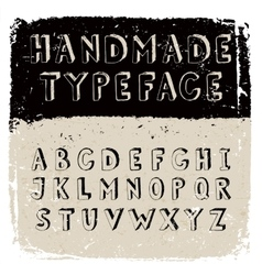 Handmade typeface vector image