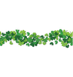 happy saint patrick s day horizontal vector image
