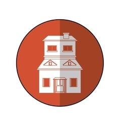 House suburban home brown circle shadow vector