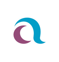 Initial letter a logo template vector