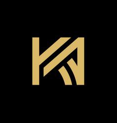 initial letter ka logo vector image