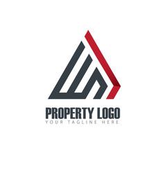 Initial letter wn property design logo vector