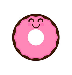 isolated happy donut emote vector image