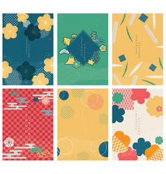 japanese template line pattern in asian style vector image
