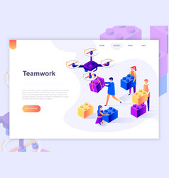 landing page template business workflow vector image