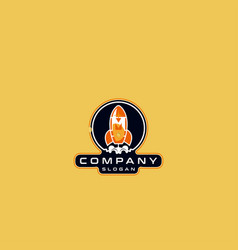 Letter m rocket logo design vector