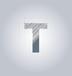 letter t logo alphabet logotype architectural vector image