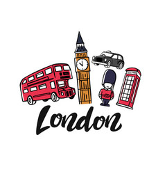London england toruism travel vector