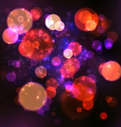 Magic Lights Bokeh Blurred Background vector image